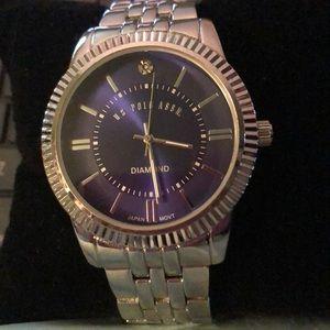 US Polo Association Diamond Mens Watch